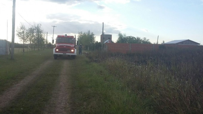 Bomberos sofocaron un incendio en Villa General Savio