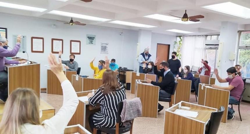 El concejo sesionó de manera presencial