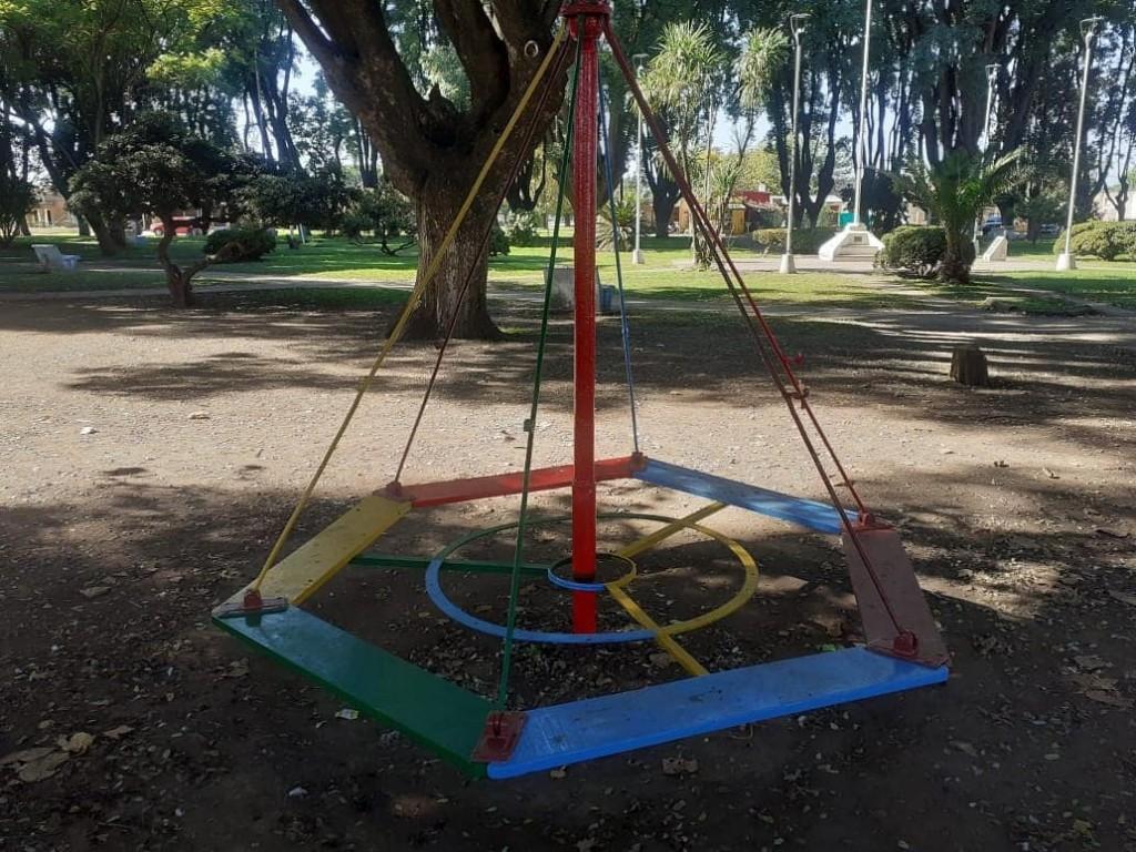 Arreglos y mejoras en la plaza San Carlos Borromeo