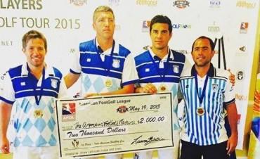 """""""Feno"""" Barberis y """"Abi"""" Petunchi campeones por equipos de Footgolf en Miami"""