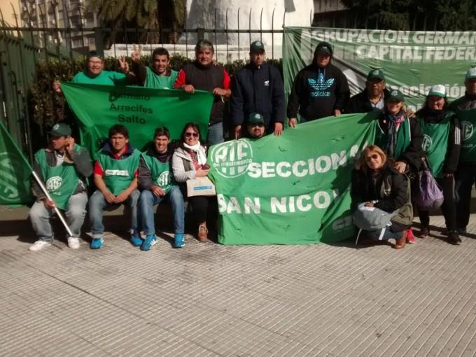 ATE protestó frente al Ministerio de Economía