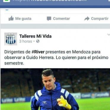 ¿Guido Herrera a River?