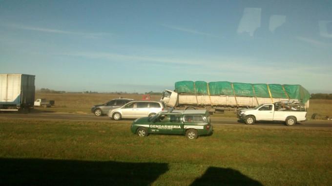 Fuerte accidente en autopista