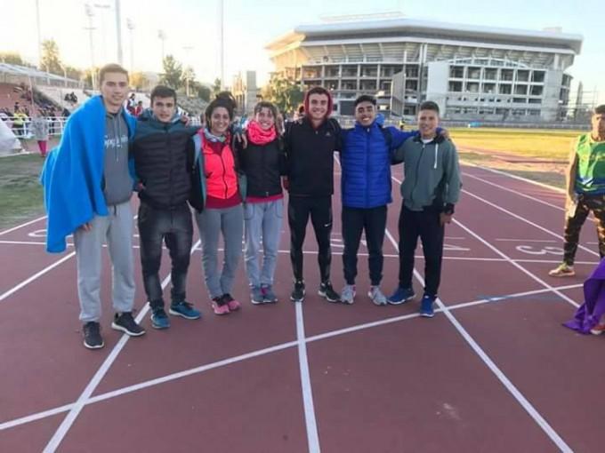 Destacada participación de los atletas del CEF en el Nacional de Mendoza