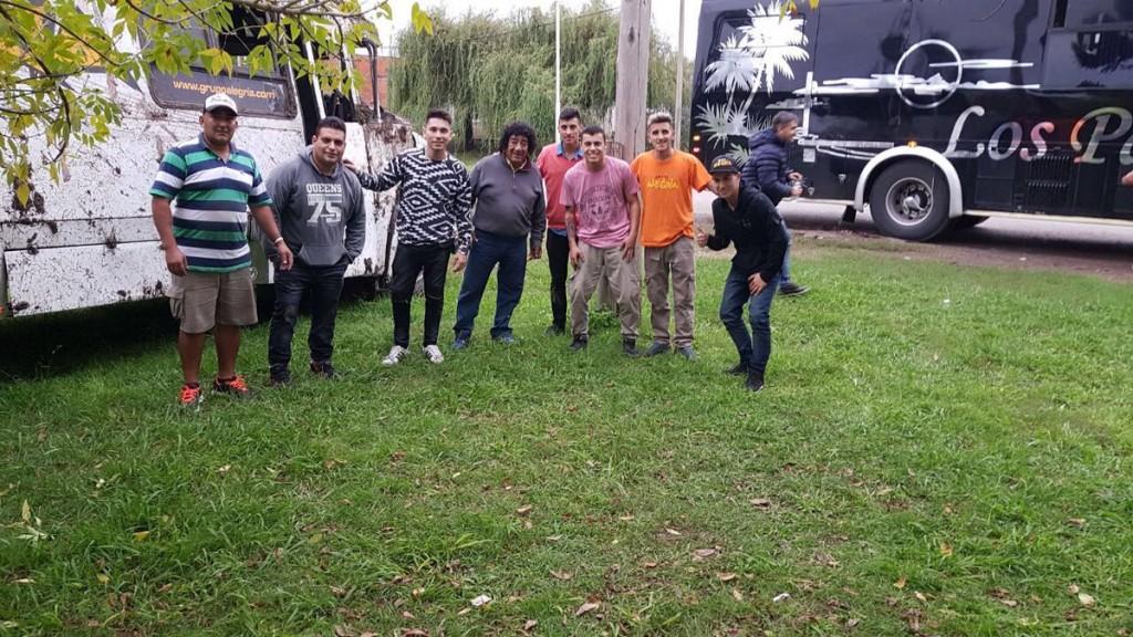 Tras el accidente Los Palmeras trasladaron al Grupo Alegría