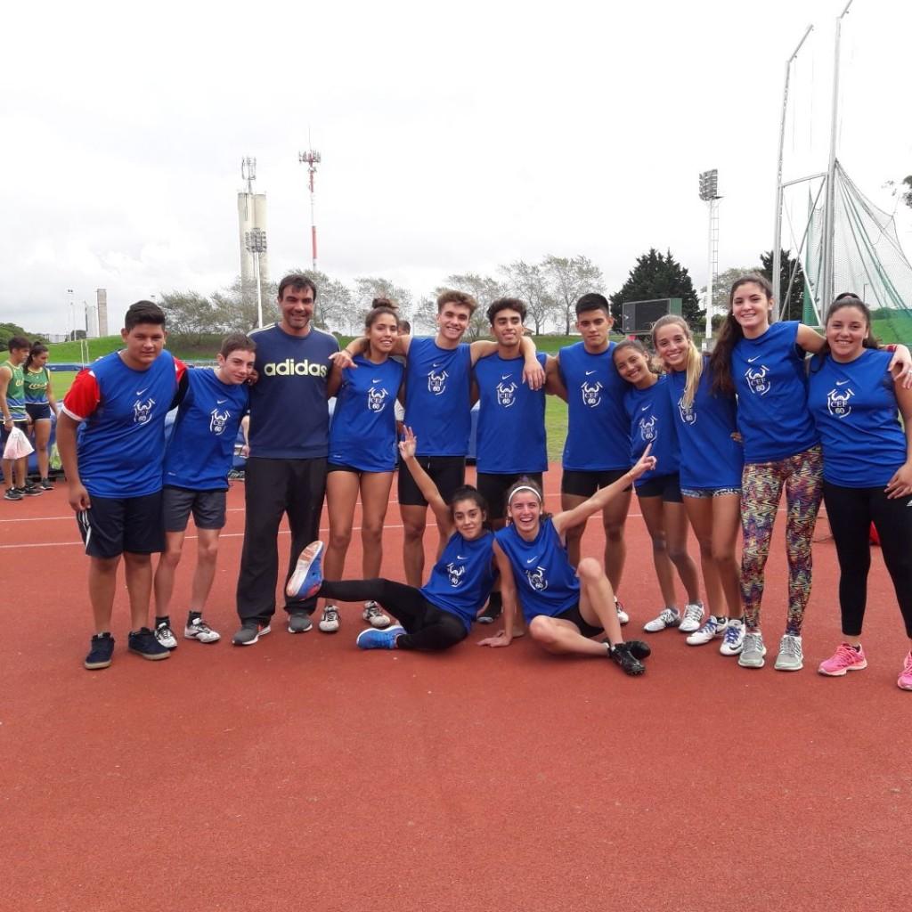 Destacada participación de los atletas del CEF en el Provincial U18
