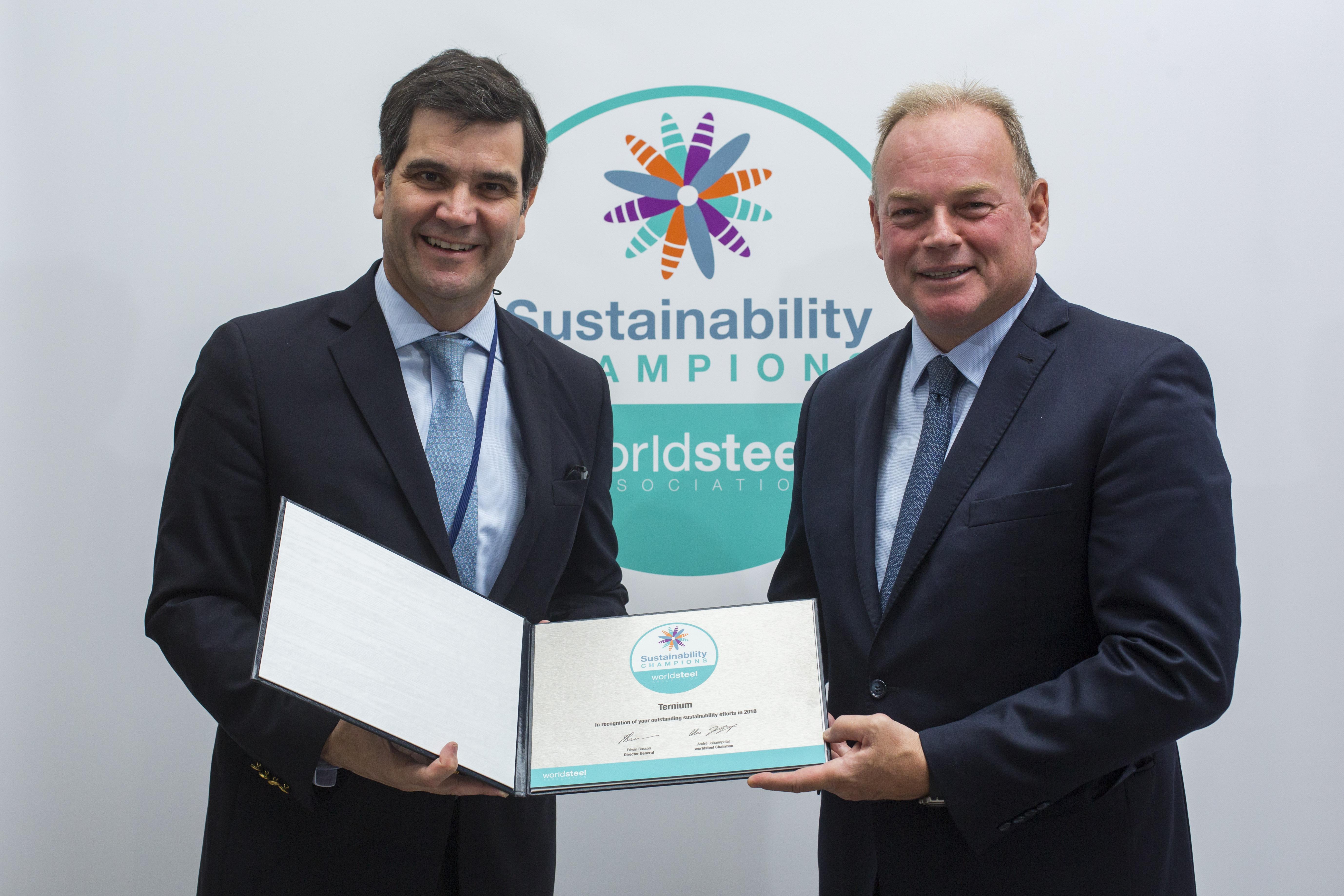 Ternium es reconocida como Campeón de la Sustentabilidad del Acero 2018