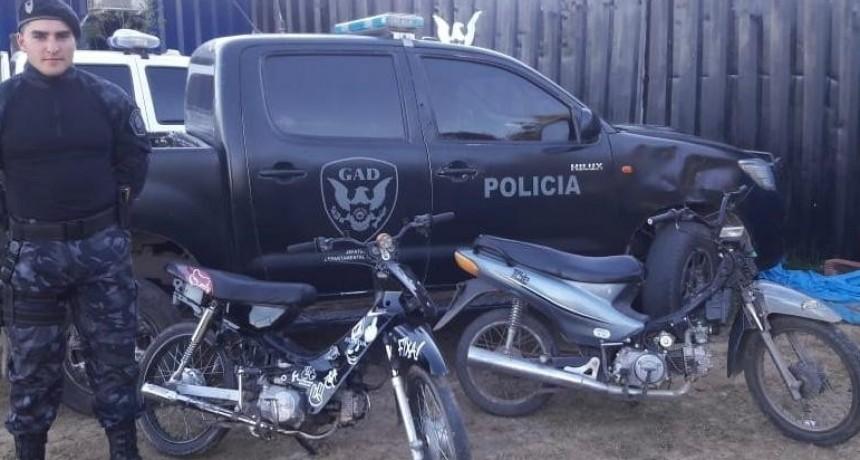 Secuestraron dos motos