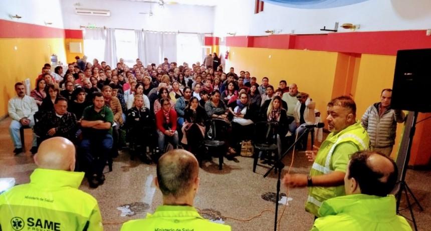 Una multitud se dió cita a la jornada de capacitación del SAME