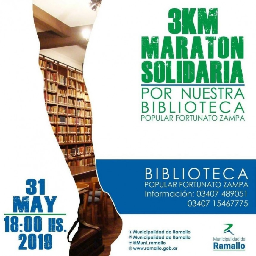 "Maratón por la Biblioteca Popular ""Fortunato Zampa"""