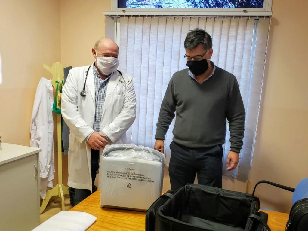 El Intendente Municipal Gustavo Perié Gestionó un Ecógrafo Portátil para el Hospital José María Gomendio de la Ciudad de Ramallo