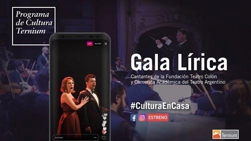 """Propuesta de Gala para la 3ra edición del """"Cultura Ternium en Casa"""""""