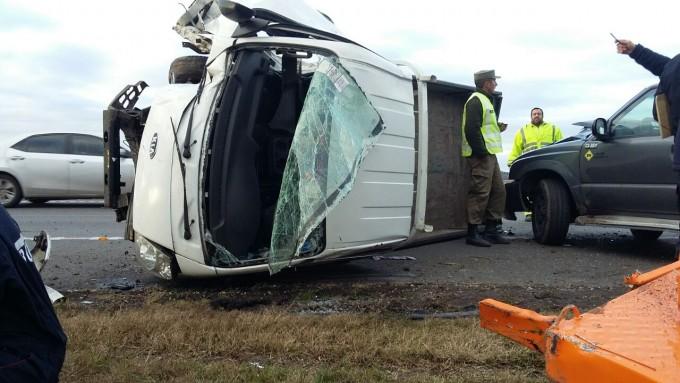 Violento accidente en el kilómetro 187 de la ruta 9