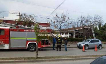 Rápido accionar de bomberos