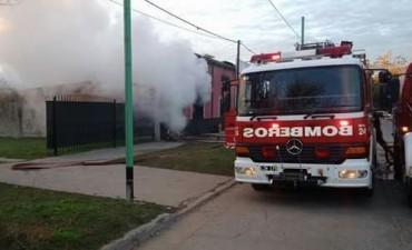 Incendio en la ciudad de Ramallo