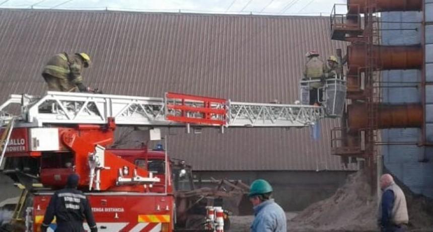 Incendio en una secadora de granos