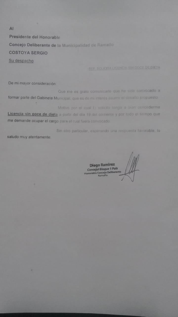 El doctor Diego Ramírez se suma al gobierno local