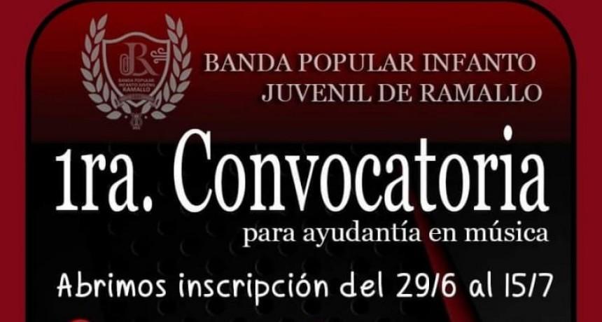 LA BANDA CONVOCA A INSTRUCTORES DE MÚSICA