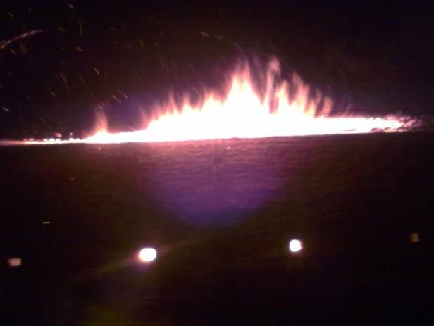 Incendio de un galpón en Ramallo