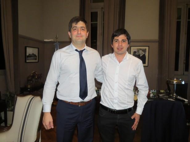 Diego Lutri se reunió con ejecutivos nacionales para gestionar ayudas a escuelas rurales y productores de la zona
