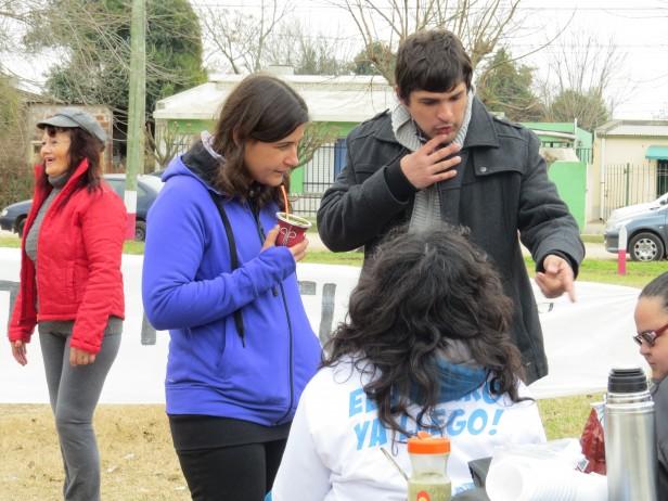 Diego Lutri realizó jornadas solidarias en diversos puntos del Partido de Ramallo