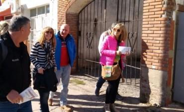 Ariel Santalla recorrió Villa Ramallo con los precandidatos de Primero Ramallo
