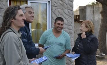 La diputada provincial Graciela Rego acompaño a Sergio Heredia por el barrio Avellaneda