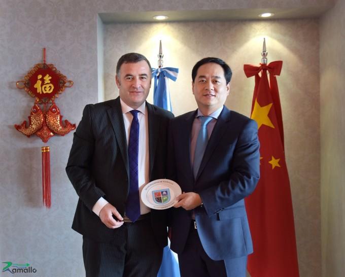 El Intendente se reunió con el embajador Chino