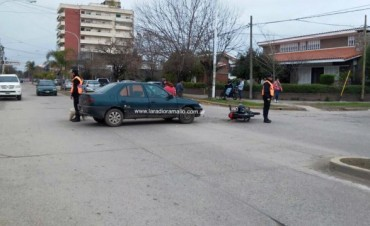 Accidente de tránsito en pleno centro de Villa Ramallo