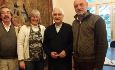 Roberto Pineda estuvo junto a Monseñor Lozano