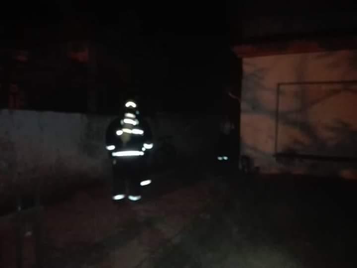 Incendio de una vivienda en Artigas y Juan B. Justo