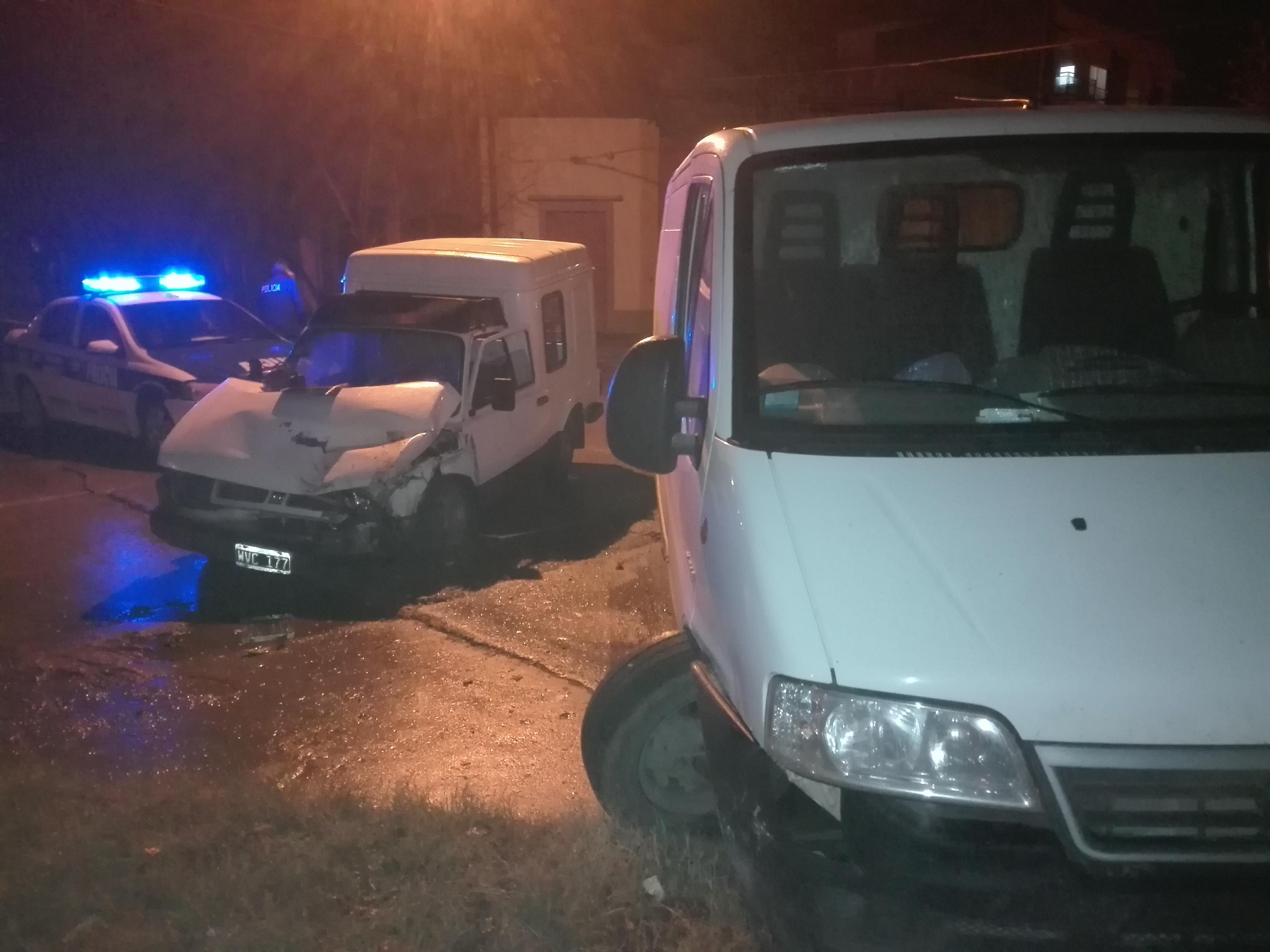 Violento choque en Villa Ramallo