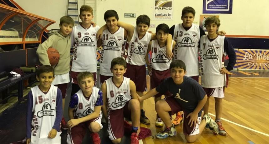 Defensores campeón de la Copa de Plata en básquet Sub 13