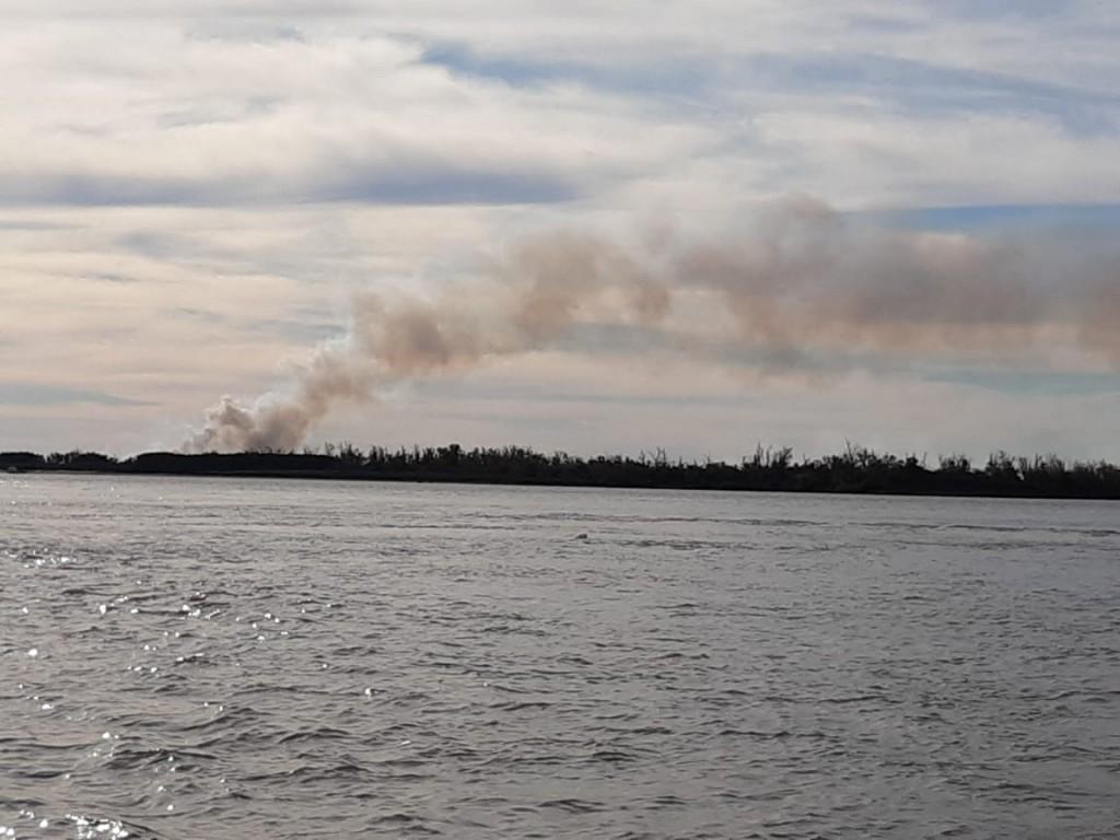 Volvieron los incendios en la zona de las islas frente a Ramallo