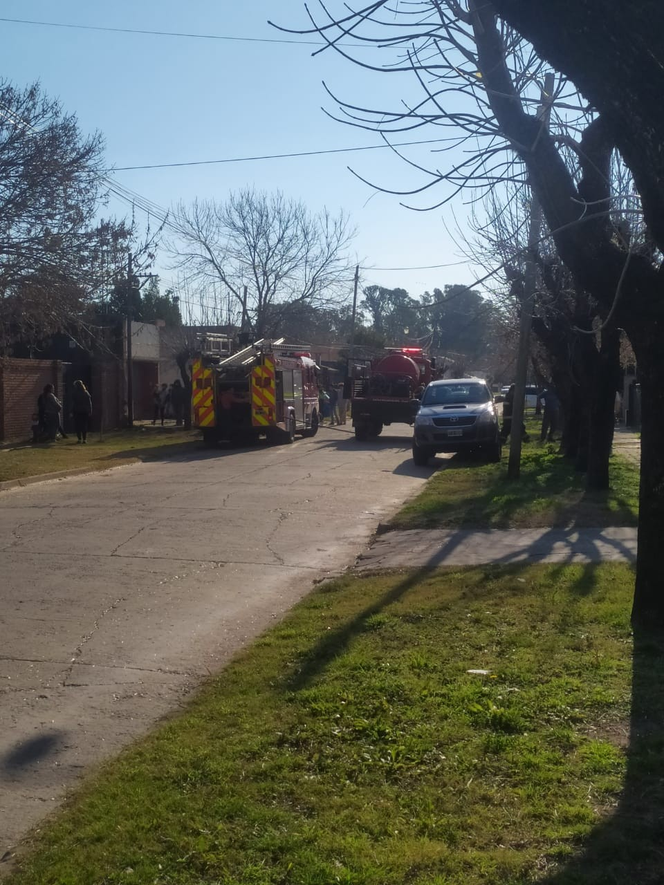 Bomberos sofocó un siniestro en un predio de Villa Ramallo