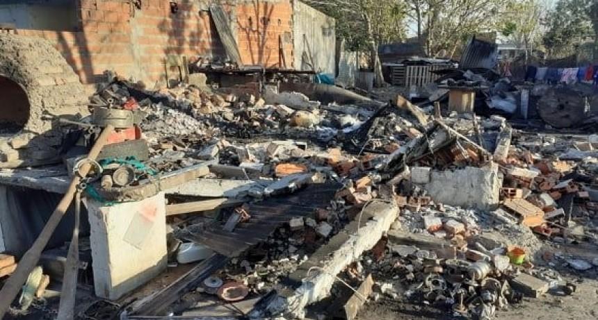Incendio de una vivienda con pérdidas totales