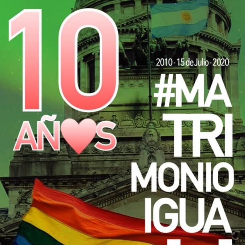Celebramos hoy 10 años de la sanción de la Ley 26.818 de Matrimonio Igualitario