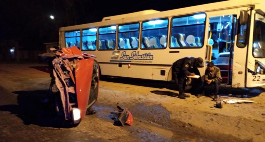Accidente en San Martín y Artigas