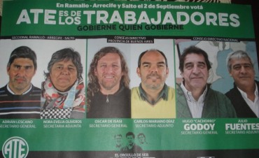 Este miércoles se presenta en la Sociedad Italiana de Ramallo la lista verde de ATE