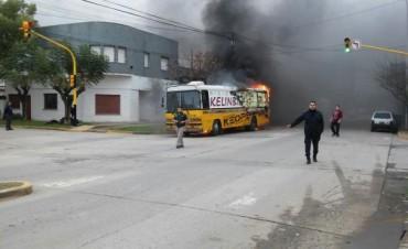 Se incendió un colectivo