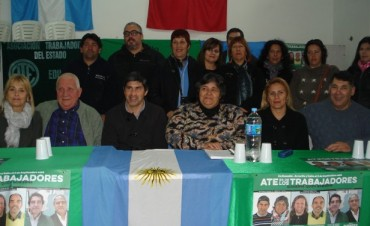ATE: Se presentó la lista verde en Ramallo que participará de los comicios