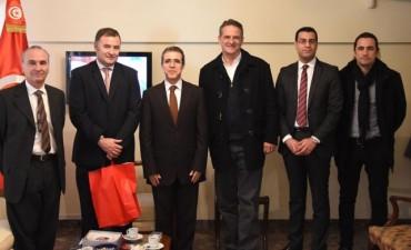 Visita del Intendente Mauro Poletti a la Embajada de Tunez
