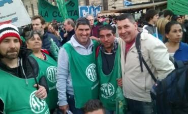 Los trabajadores de ATE se movilizaron a Plaza de Mayo