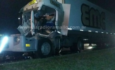 Accidente a la madrugada en Ruta 9 km 191