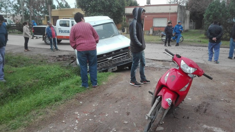 Accidente en Avenida Dusso