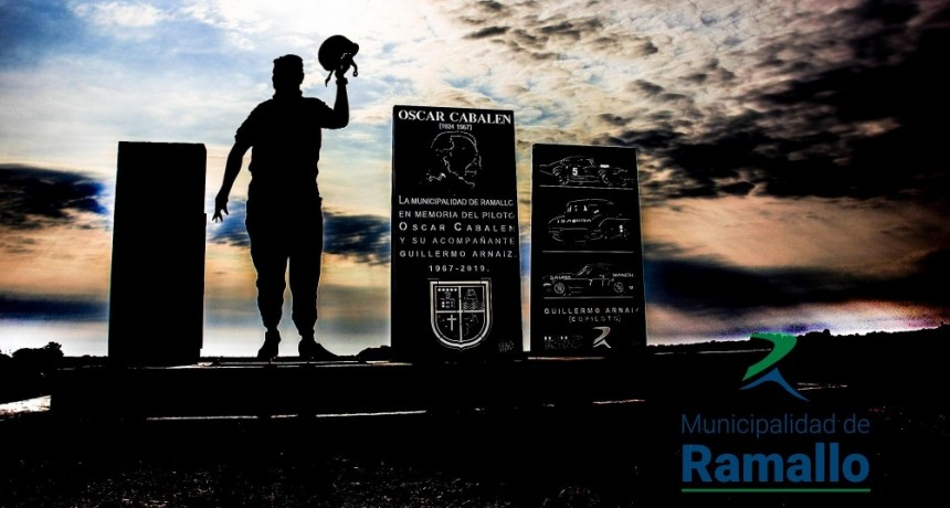 Se reinauguró el monumento en homenaje a Oscar Cabalen