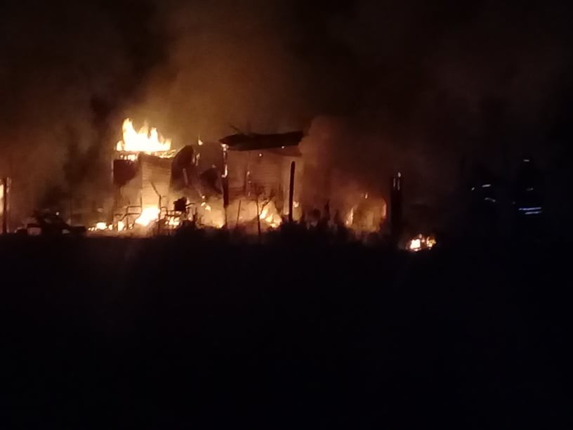 Incendio en una vivienda en Villa General Savio