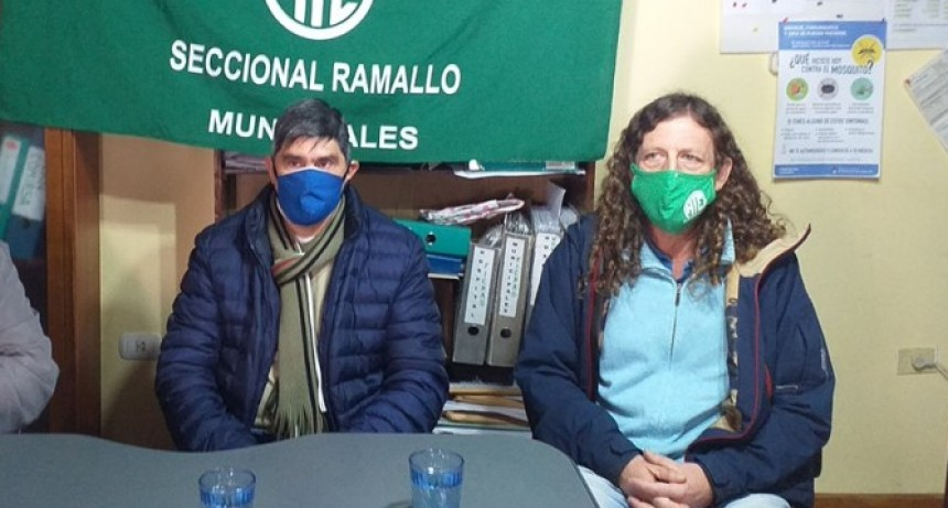 Oscar De Isasi secretario general de ATE Buenos Aires visitó Ramallo