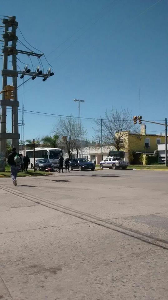 Accidente en Savio y San Martín