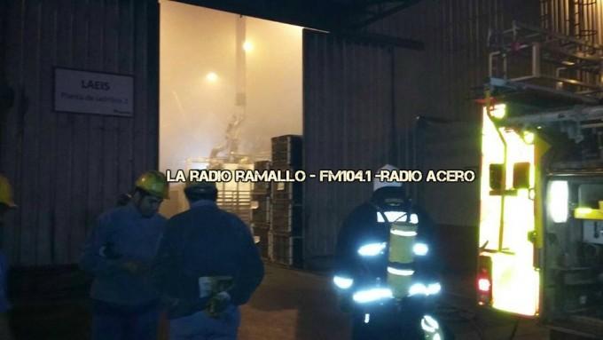 Villa General Savio: Incendio en una fabrica